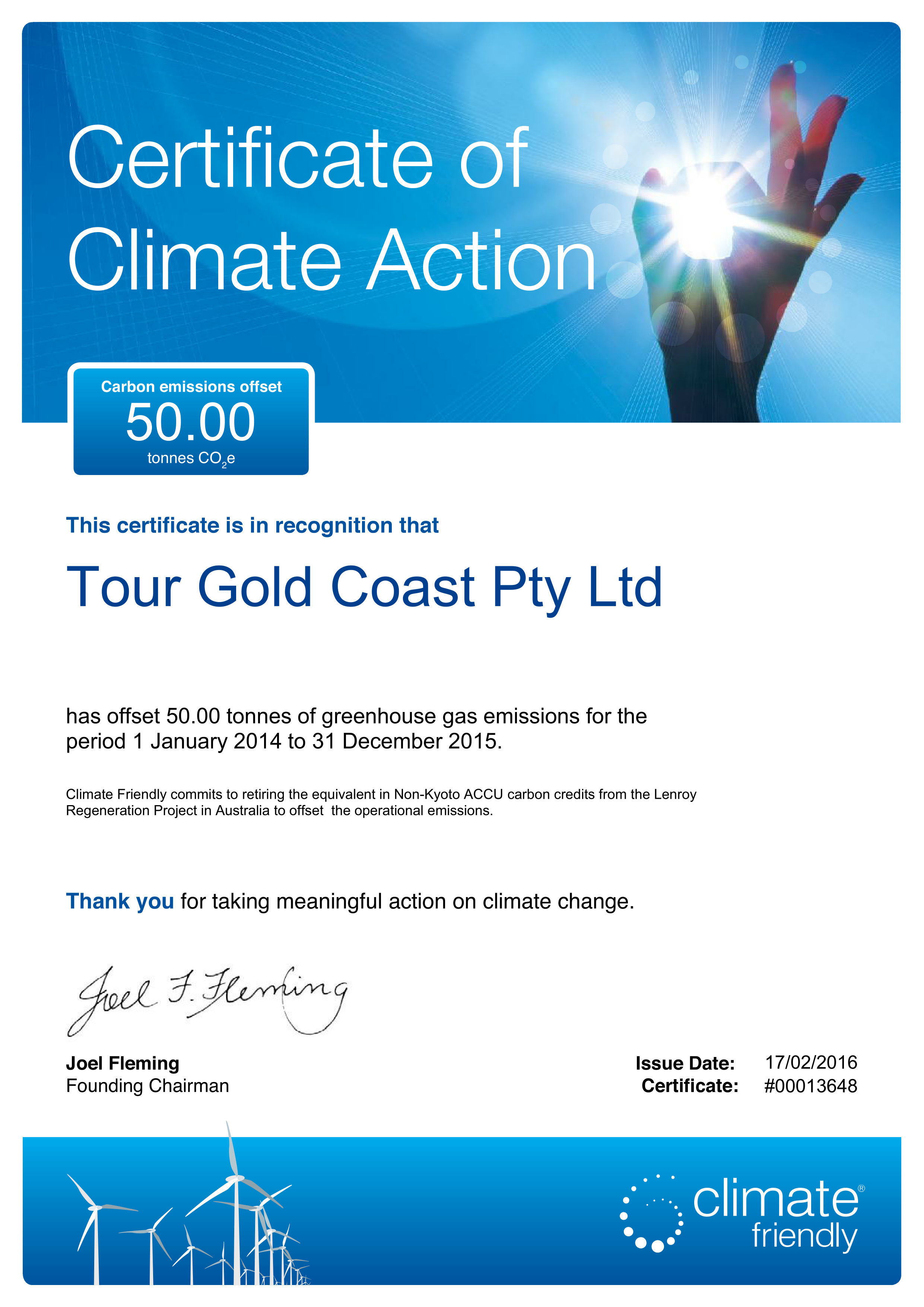 The greenhouse gold coast - Climate Friendly_certificate 13648_imgs 0001